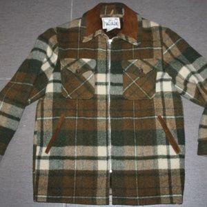 Vintage 70's WOOLRICH Plaid Wool Lined Coat Jacket